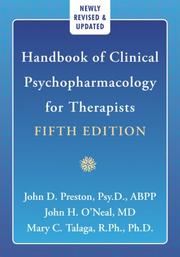 Cover of: Handbook of Clinical Psychopharmacology (Professional) | John D. Preston