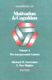 Cover of: Handbook of motivation and cognition
