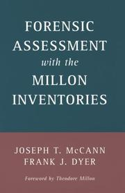 Cover of: Forensic assessment with the Millon inventories