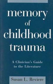 Cover of: Memory of childhood trauma