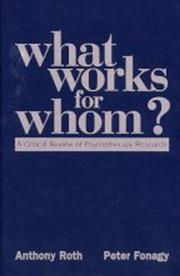 Cover of: What works for whom?