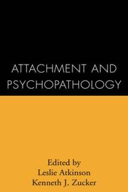 Cover of: Attachment and psychopathology |