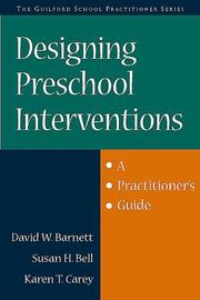 Cover of: Designing preschool interventions