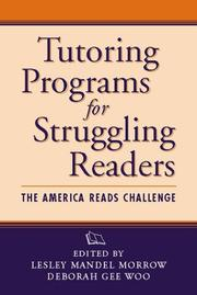 Cover of: Tutoring Programs for Struggling Readers |
