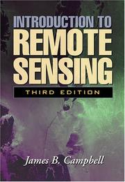 Cover of: Introduction to Remote Sensing | James B. Campbell