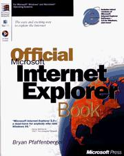 Cover of: The offical Microsoft Internet Explorer book