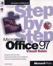 Cover of: Microsoft Office 97/Visual Basic step by step