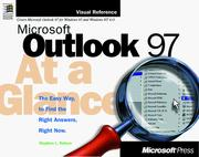 Cover of: Microsoft Outlook 97 at a glance