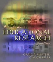 Introduction to educational research by C. M. Charles