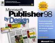 Cover of: Microsoft Publisher 98 by design