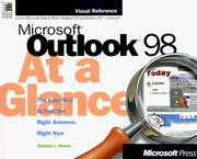 Cover of: Microsoft Outlook 98 at a glance