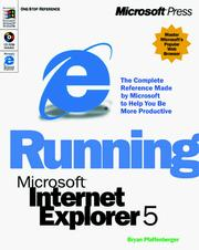 Cover of: Running Microsoft Internet Explorer 5