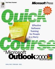 Cover of: Quick Course(r) In Microsoft(r) Outlook(tm) 2000 | Online Press Inc.