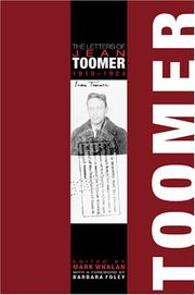Cover of: The letters of Jean Toomer, 1919-1924