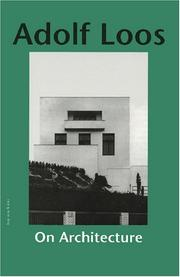 Cover of: On Architecture