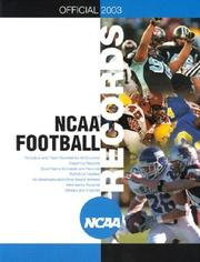 Cover of: Official 2003 Ncaa Football Records | Triumph Books