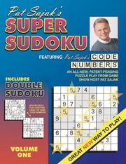 Cover of: Pat Sajak's Super Sudoku Featuring Code Numbers