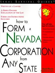 Cover of: How to Form a Nevada Corporation from Any State