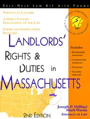 Cover of: Landlords' rights and duties in Massachusetts