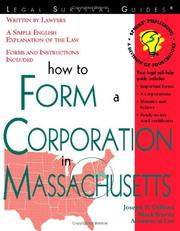 Cover of: How to form a corporation in Massachusetts