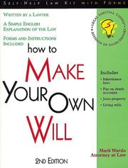 Cover of: How to make your own will: with forms