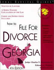How to file for divorce in Georgia by Charles T. Robertson