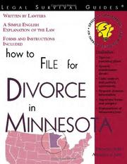Cover of: How to File for Divorce in Minnesota (Legal Survival Guides)