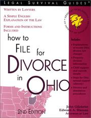 Cover of: How to file for divorce in Ohio