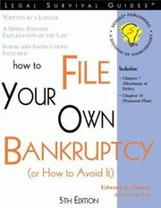 Cover of: How to File Your Own Bankruptcy | Edward A. Haman