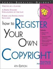 Cover of: How to register your own copyright: with forms