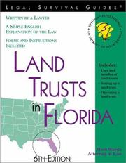 Cover of: Land trusts in Florida: with forms and caselaw