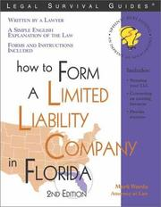 Cover of: How to form a limited liability company in Florida: with forms