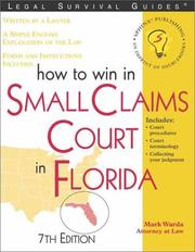 Cover of: How to win in small claims court in Florida: with forms
