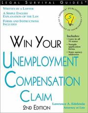 Cover of: Win Your Unemployment Compensation Claim (Legal Survival Guides)