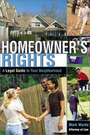 Cover of: Homeowner's Rights