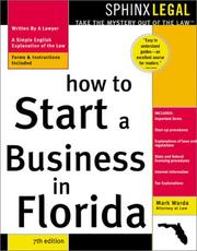 Cover of: How to start a business in Florida: with forms