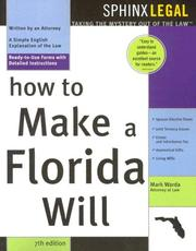 Cover of: How to make a Florida will: with forms