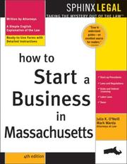 Cover of: How to start a business in Massachusetts