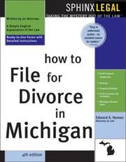 How to file for divorce in Michigan by Edward A. Haman