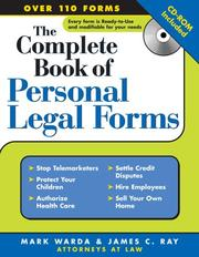Cover of: complete book of personal legal forms | Mark Warda