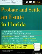 Cover of: Probate and settle an estate in Florida | Gudrun M. Nickel