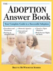 Cover of: The Adoption Answer Book | Brette McWhorter Sember
