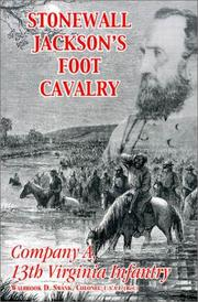 Cover of: Stonewall Jacksons Foot Cavalry | Walbrook D. Swank