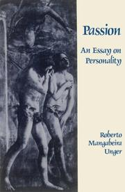Cover of: Passion | Roberto Mangabeira Unger