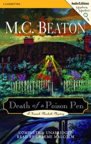 Cover of: Death of a Poison Pen | M. C. Beaton