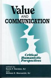 Cover of: Value and Communication | Mo.) Centre for the Study of Communication and Culture (Saint Louis