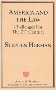 Cover of: America and the Law | Steven Herman