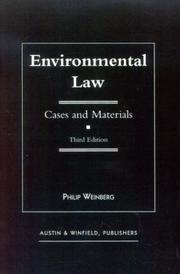 Environmental law by Philip Weinberg
