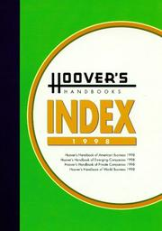 Hoovers Handbooks Index 1998 (Hoovers Handbooks Index)