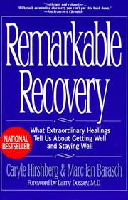 Cover of: Remarkable recovery |